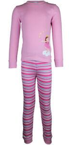MiniZZZ Ballerina L/S Cotton T-Shirt / Long John Pyjama Set Pink (3)