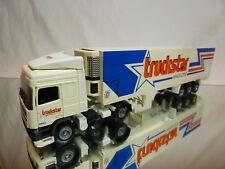 TEKNO HOLLAND DAF 95 380 ATI TRUCK + TRAILER - TRUCKSTAR - OFF WHITE 1:50 GOOD
