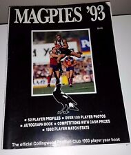 AFL COLLINGWOOD MAGPIES CLUB YEARBOOK 1993