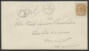 1898 Registered Cover, #82 8c Numeral, Campbellton NB to Toronto, Express 13 RPO