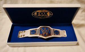 WWE SMACKDOWN RARE FOX SPORTS MINI WOMEN'S CHAMPIONSHIP TITLE BELT - AUTHENTIC!