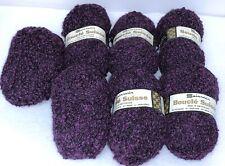 New ListingVintage Spinnerin Boucle Suisse Yarn~Purple~Lot of 7~Wool Mohair Orlon~Free Ship