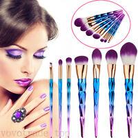 7pcs Professional Makeup Brush Set Kit Kabuki Powder Foundation Blusher Brush UK