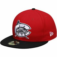 Carolina Mudcats New Era Authentic Road 59FIFTY Fitted Hat - Red/Black