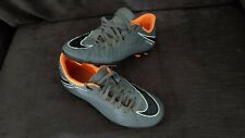 NIKE HYPERVENOM FOOTBALL BOOTS GREY & ORANGE SIZE 5.5 MOULDED STUDS