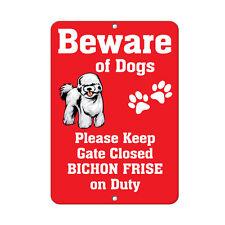BICHON FRISE DOG Beware of Fun Novelty METAL Sign