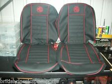 Seat Cover Set (pair), MGB, MGC >68, choice of colors & piping, Pre Leatherete