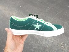 Converse ONE STAR  LOW OX SUEDE PONDEROSA PINE & LIME GREEN 161614C SIZE 10 NEW