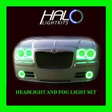 2005-2010 CHRYSLER 300C GREEN PLASMA HEADLIGHT+FOG HALO KIT 6 RINGS by ORACLE