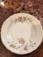 """Vintage Edwin M. Knowles China Semi Vitreous 4-87 Pattern 6"""" Plate Set of 2"""