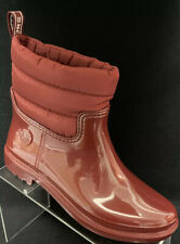 Womens Michael Kors Blakely Rain Bootie Brandy Red Size 8 Short Boots