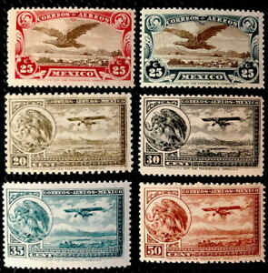 Mexico  Stamps Airmail Sc C3/C16 Mint Never Hinged
