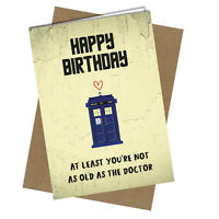 Age 7 Happy 7th Birthday Blue Tardis Card Dr Who Telephone Box DR WHO