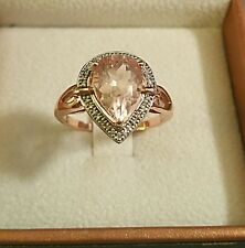 10k gold Morganite ring