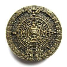 Bronze Aztec Mayan Calendar Metal Fashion Belt Buckle