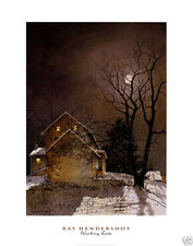 Working Late Ray Hendershot Country House Art Print Poster 22x28