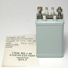 Militärischer Audio-Transformator / Übertrager, Plessey, 5950-99-525-7689, NOS