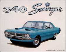 1970 Dodge Dart Swinger 340 Mopar Art Print Lithograph NOS 70