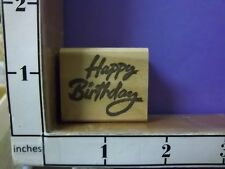 happy birthday saying rubber stamps 30j