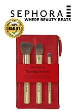 Sephora The all in one brush set 3 brushes & red bag perfect for contouring!