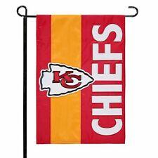 "Kansas City Chiefs NFL Burlap Decorative Team Flag 28"" X 44"" - New"