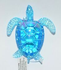 BATH & BODY WORKS BLUE IRIDESCENT SEA TURTLE MAGNET LARGE 3 WICK CANDLE DECOR