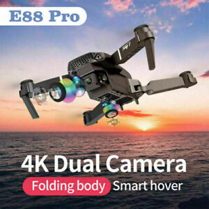 E88 Pro WIFI FPV Quadcopter With Fordable Wide Angle HD 4K Dual Camera Drone RC