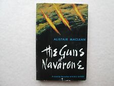 THE GUNS OF NAVARONE by Alistair Maclean 1957 HCDJ Vintage BCE Doubleday & Co.