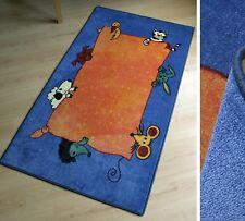 Tapis HM animaux bleu orange 60x100 cm NEUF