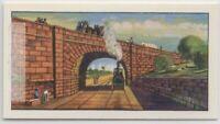1830s Rainhill Skew Bridge L.&M.R  Steam Engine Vintage Trade Ad Card