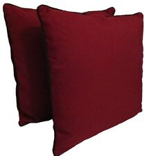 """D&M Polyester 18""""x18"""" Indoor/outdoor Decorative Throw Pillow, set of 2, Red"""