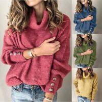 Women's  Tops Long Knitted Cardigans Knitwear Sleeve Autumn Jumper Sweater