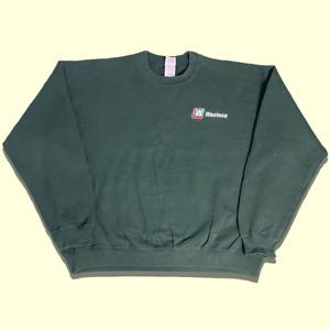 Green Vintage Gildan 'Wasteco' USA Workwear Sweatshirt Embroidery