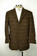 Herringbone Classic Double Jacket Vents Blazers for Men