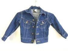 Vintage 70s-80s Kid's 5 Lee  Denim Jean Jacket VTG Harley Patches RN 153428