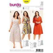 Burda Style Easy SEWING PATTERN 6680 Plus Size Dress Sizes 20-34