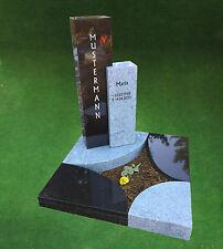 Granit Grabstein Urnenanlage Urnengrabanlage mit Einfassung 100 x 100 cm 13-036