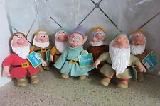 "Set of Disney Applause Seven Dwarfs 6"" Figure Dolls with Vinyl Heads And Hands"