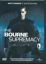 The Bourne Supremacy (2004) DVD NUOVO Matt Damon. Brian Cox. Frank Potente. Juli