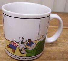 The Far Side Gary Larson Oz Coffee Mug Cup Before TV Television Comic