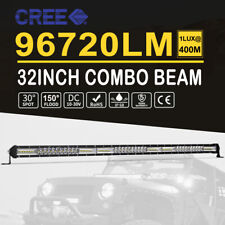 32inch 624W LED Light Bar 1Row Spot Flood Driving Offroad Truck Work Lamp 30''