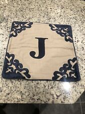 New 20'X 20' Monogrammed Linen/Velvet Decorative Pillow Sham