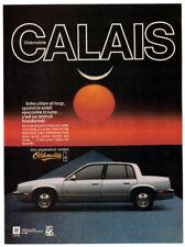 1986 OLDSMOBILE Calais Vintage Original Print AD - Silver car photo sunlight ca