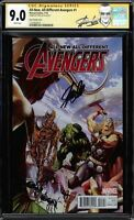 ALL-NEW, ALL-DIFFERENT AVENGERS #1 CGC 9.0 ROSS VARIANT SS STAN LEE #1227833015