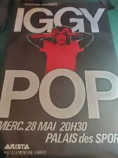 Iggy Pop Palais des Sports Soldier Euro Tour 1980 French Vintage Concert Poster