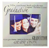 Silver graduation photo frame with motivational quote, holds 4x6 inch picture