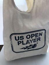 US OPEN PLAYER Beige Heavy duty Cotton Canvas Shoulder Tote Bag Unisex Style Bag