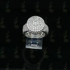 10K White Gold Finish Silver Cz  Size 9 Mens Ring