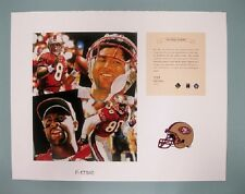 Rice &  Young San Francisco 49ers 1996 NFL Football 11x14 Lithograph Print