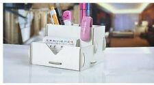 Modern Wood Desk Tidy DIY clip together flat pack in white